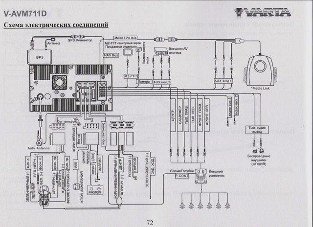 подключение Варты V-AVM711D - фото на Drom.ru.