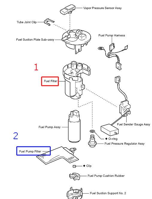 Схема топливного фильтра